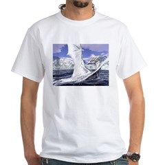 "Dreslough's ""Dragon Bath"" White T-Shirt"