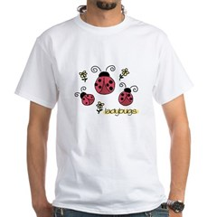 Little Ladybugs Women's Pink White T-Shirt