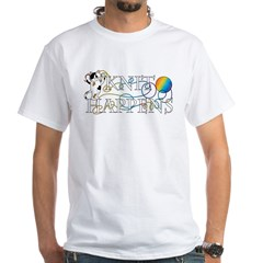 Knit Happens White T-Shirt