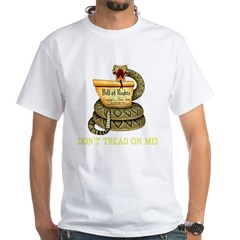 DTOM - Don't Tread on Me! Black T-Shir White T-Shirt