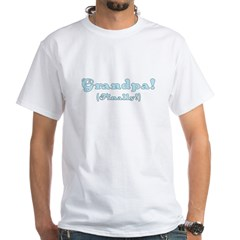 Grandpa Finally (boy) White T-Shirt