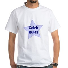 Caleb Rules Ash Grey White T-Shirt