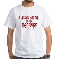 Supreme Master of the Macabre White T-Shirt