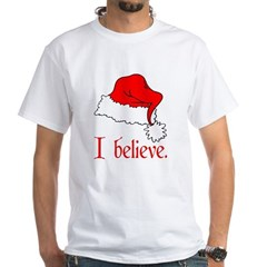 I Believe in Santa Ash Grey White T-Shirt
