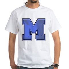 M Go Blue White T-Shirt