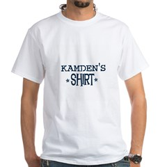 Kamden Ash Grey White T-Shirt