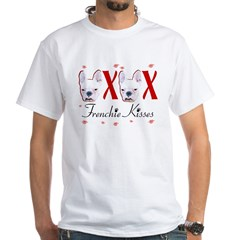 Frenchie Kisses OXOX White T-Shirt