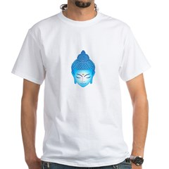 blue buddha White T-Shirt