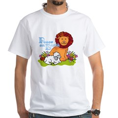 Lion & Lamb Peace On Earth White T-Shirt