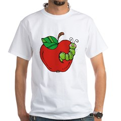 Wormy Apple White T-Shirt