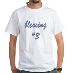 Blessing #3 White T-Shirt