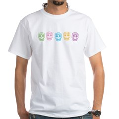 Colorful Day of the Dead White T-Shirt