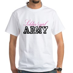 Soldier's girl White T-Shirt