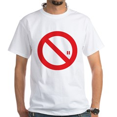 Classic No Smoking White T-Shirt