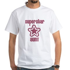Superstar Aunt White T-Shirt