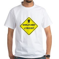 Lyricist White T-Shirt