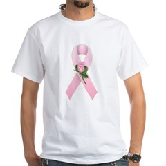 Breast Cancer Ribbon 2 White T-Shirt