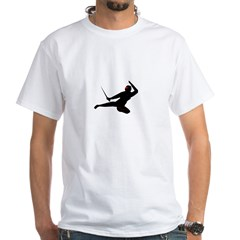 Flying Ninja White T-Shirt