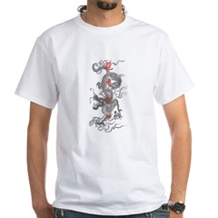 Traditional Dragon With Kanji White T-Shirt