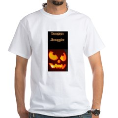 """Pumpkin Smuggler"" White T-Shirt"