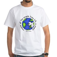 Imagine - World - Live in Peace White T-Shirt