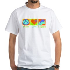 Peace Love Dolphins White T-Shirt