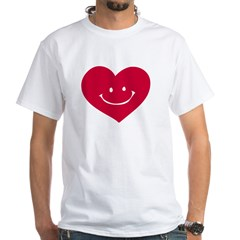 Smiley Heart White T-Shirt