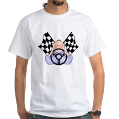 Lil Race Winner Baby Boy White T-Shirt