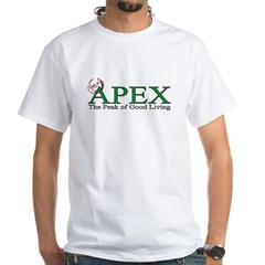 Apex North Carolina Peak of Good Living White T-Shirt