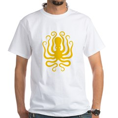 Octapus 8 Big White T-Shirt