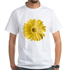 Pop Art Yellow Daisy White T-Shirt