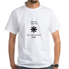 rowing ninja copy White T-Shirt