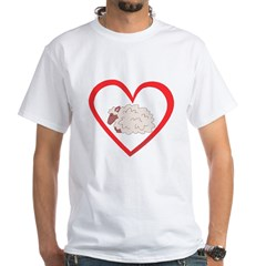 Sheep Heart White T-Shirt