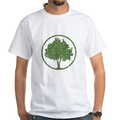 Vintage Tree White T-Shirt