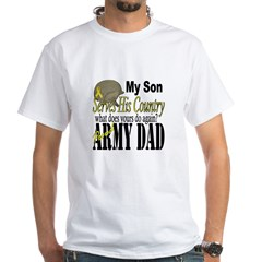 Army Son Serves White T-Shirt