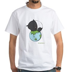 : 'Tapir on World' White T-Shirt