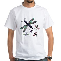 Dragonflies.png White T-Shirt