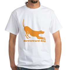 Downward Facing Dog White T-Shirt