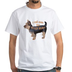 Australian terrier Belly rub White T-Shirt