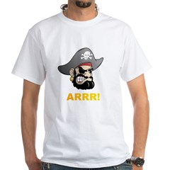 Arr Pirate White T-Shirt