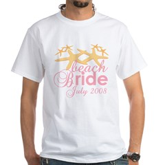 July Beach Bride 2008 White T-Shirt