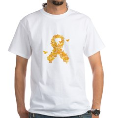 MS Butterfly Ribbon White T-Shirt