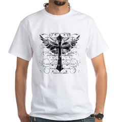 wingedcrossdark White T-Shirt