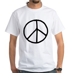 Peace Symbol White T-Shirt