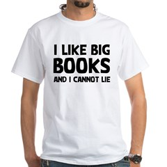 I Big Books White T-Shirt