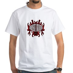 Biker T-shirt Just Ride White T-Shirt