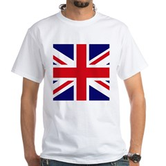 British Flag Union Jack White T-Shirt