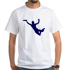 BLUE DISC CATCH White T-Shirt