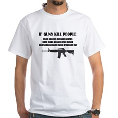 3-Guns dont kill people.jpg White T-Shirt