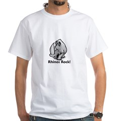 Rhinos Rock! White T-Shirt